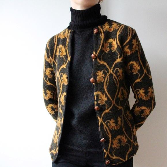 Vintage 1960's Autumn Lambswool Cardigan